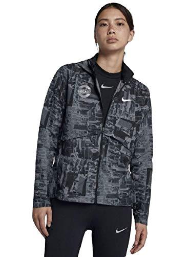 - Nike Essential Chicago Marathon 2018 Women's Running Jacket (Black, Small)