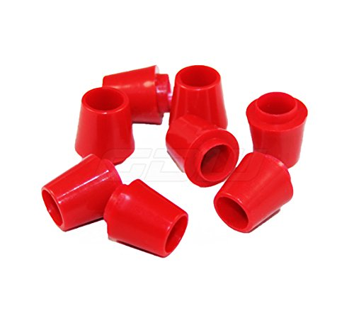 Red Colored Golf Ferrules .335 ID for Drivers and Woods PACK of 8 (Golf Ferrules)