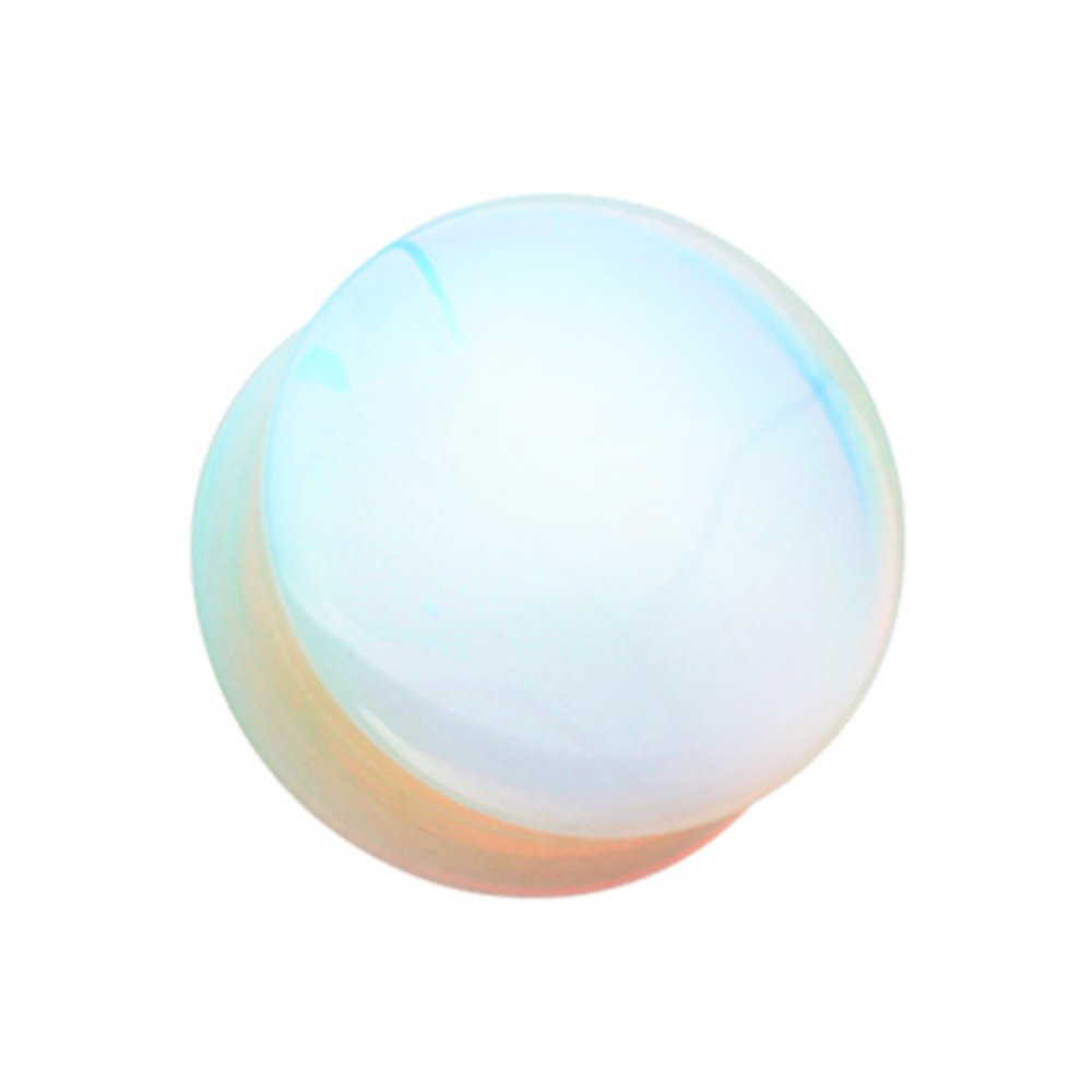 Inspiration Dezigns Opalite Stone Double Flared Ear Gauge Plugs Sold as a Pair
