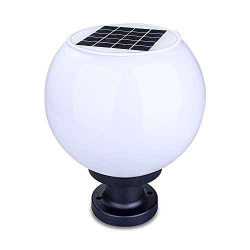 White Globe Outdoor Post Light in Florida - 6