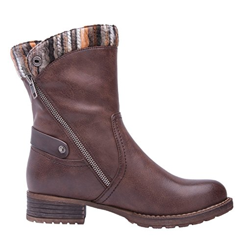 Global Win Globalwin Mujeres Kadimaya16yy26 Botas Marrón