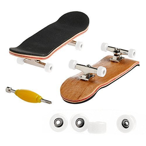 Kathson Mini Skateboard Toys - 1 x Mini Skateboard Toys Finger Board, with White Basic Bearing Wheels for $<!--$4.98-->
