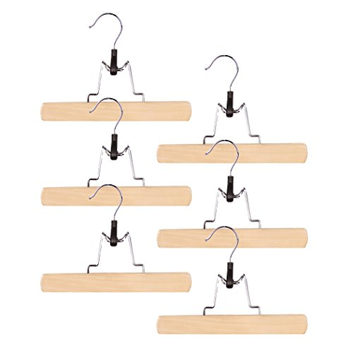 Wood Hangers Trouser Clamp (Set of 6) Color: Natural