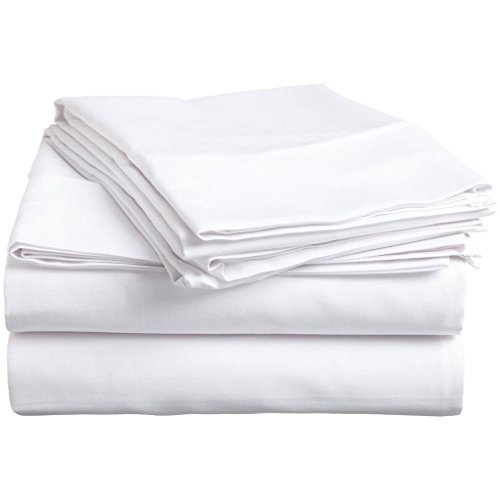 American Beddng Collection Sleeper Sofa Bed Sheet Set (Color - White) Solid Egyptian Cotton 400 Thread Count ( Queen Size 60