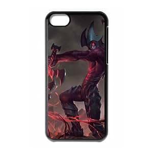 iPhone 5c Cell Phone Case Black League of Legends Aatrox Ejnjw