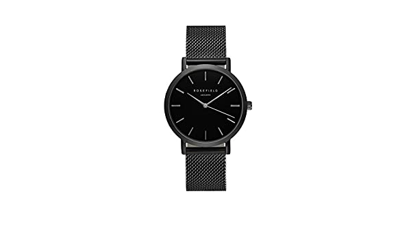 Amazon.com: ROSEFIELD AMS/NYC Mercer Black MESH Strap Watch - MBB-M43: Watches