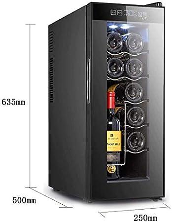 JJSFJH Situación Libre del refrigerador de Vino, Vino Tinto termostato, Bar Oficina Sola Puerta Refrigerador conservación de Alimentos