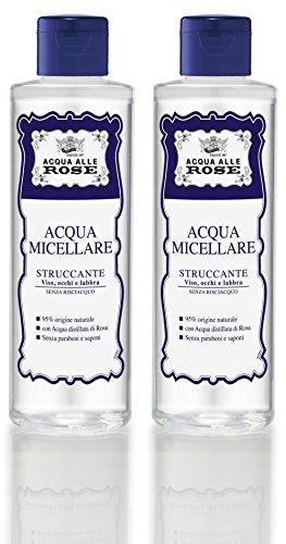 Roberts Acqua alle Rose Micellar Water 6.76 Fluid Ounce 200ml Bottle Pack of 2 Italian Import