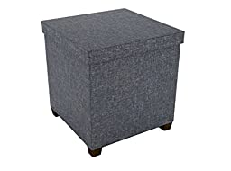 dar Living Storage Ottoman 17x17, Dark gray