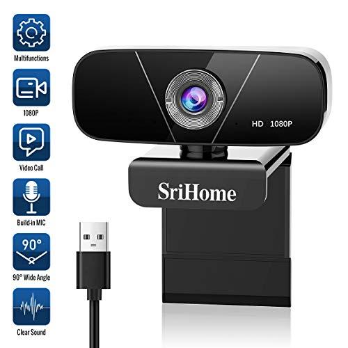 🥇 Faneam HD 1080P Webcam con Micrófono USB Web CAM Streaming Cámara para Conferencias Videollamadas Gaming