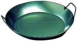 Matfer Bourgeat 062053 Black Steel Paella Pan, 17-3/4 In. Diameter
