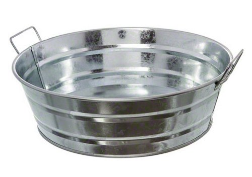 American Metalcraft MTUB10 Natural Galvanized Steel Tub with Side Handle, 54-Ounce, 10