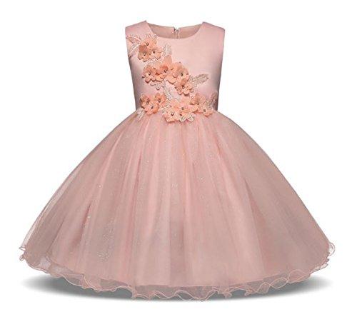 Tokkids vestido de comunión para niñas, vestido de cumpleaños de niña, princesa vestido, 8 - 11 años: Amazon.es: Ropa y accesorios
