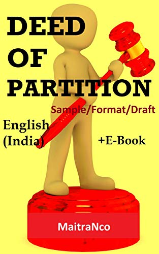 Amazon Com Deed Of Partition Sample Format Draft Ebook