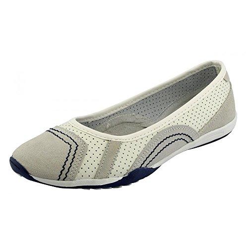 Kick Footwear - Damen Leder bequem Schuhe Damen bequeme neue Schuhe, flache Schuhe Weiß