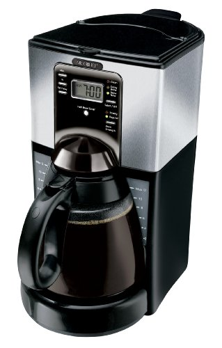 Mr Coffee FTX45-1 12-Cup Programmable Coffeemaker, Black/...
