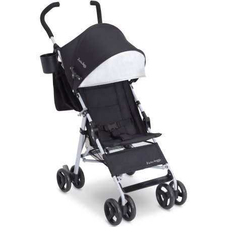 J is for Jeep Brand North Star Stroller, Black with Baby Blue
