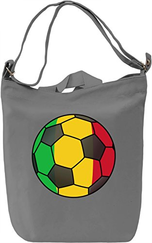 Mali Football Borsa Giornaliera Canvas Canvas Day Bag| 100% Premium Cotton Canvas| DTG Printing|