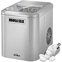 Kealive Ice Maker Machine with LED Display, 2 Quart Water Tank and Ice Scoop, for Home, Bar, Restaurant