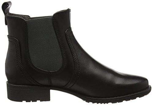 Jana Damen 25414 Chelsea Boots Schwarz (Black 001)