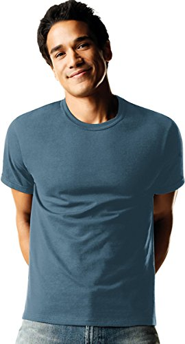 Hanes Mens Tagless ComfortSoft Dyed Crewneck T-Shirt 4-Pack