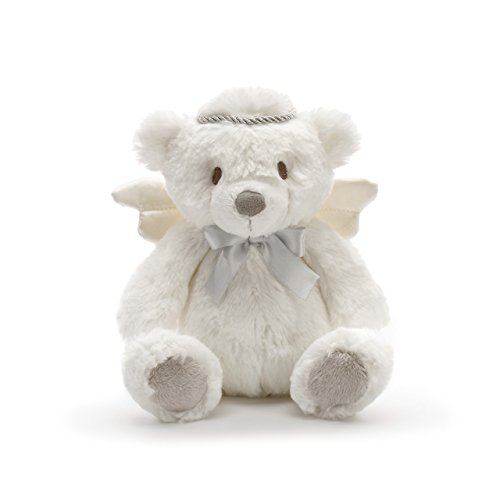 DEMDACO Angel Bear With Silver Crown Soft White Children's Plush Stuffed Animal ()