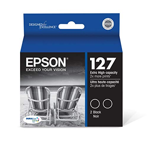 Epson T127120-D2 DURABrite Ultra Black Dual Pack Extra High Capacity Cartridge Ink