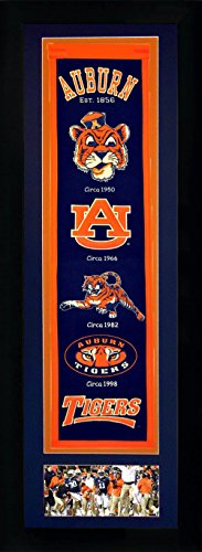 NCAA Auburn Tigers Legends Never Die Team Heritage Banner with Photo, Team Colors, 15