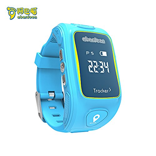ABARDEEN Smart Kid Safe 2G GSM GPS Locator Tracker SIM For Children Anti-Lost Smartwatch Phone SOS Smart Watch for iOS Android (Blue)