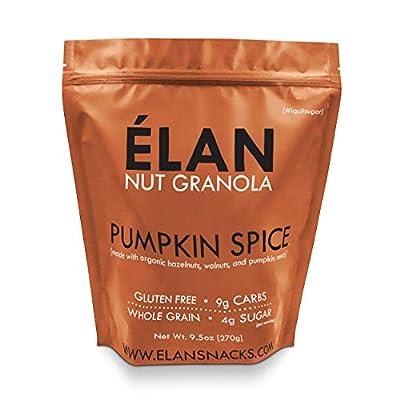ELAN Healthy Breakfast Cereal Granola Shots, Low Sugar Gluten Free Oatmeal Muesli Snack Pack To Go (Almond Pecan Walnut Coconut Oats, 12 Pack)