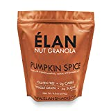 ELAN Pumpkin Spice Hazelnut Cookie Granola, Delicious Low Carb Dessert, Organic Cereal and Healthy Fall Nut Snack, Low Sugar Diet Gift (9.5 Ounce Travel Bag)