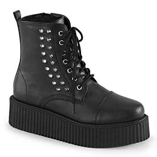 Demonia Menns V-creeper-573 Boots Blk Vegan Lær
