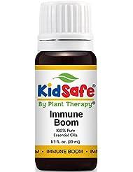Plant Therapy KidSafe Immune Boom Synergy Essential Oil Blend. Blend of: Lemon, Palmarosa, Dill, Petitgrain, Copaiba and Frankincense Carteri. 10 ml (1/3 oz).
