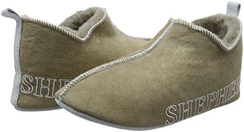 Shepherd - Zapatillas de estar por casa de cuero para hombre gris/stone 39 nzE97C