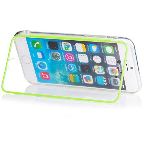 ICues aH34 transparent ecran tactile en tPU pour apple iPhone 6 vert