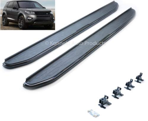 Stealth Gloss Black Side Steps compatible LR Discovery Sport L550 2014+
