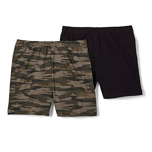 French Toast Girls' Big' Stretch Kick Short, Ivy League Camo, M (7/8)