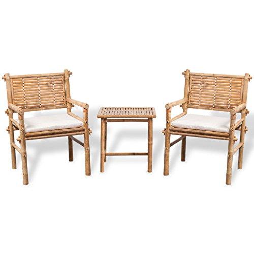 vidaXL 5tlg. Gartenmöbel Set Sitzgruppe Gartengarnitur Sitzgarnitur Stuhl Bambus
