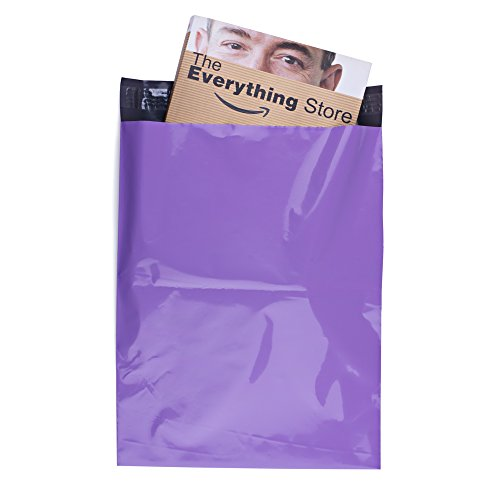 Metronic 100 Pcs 12 x 15.5 Light Purple Poly Mailer Envelopes Shipping Bags with Self Adhesive, Waterproof and Tear-proof Postal...