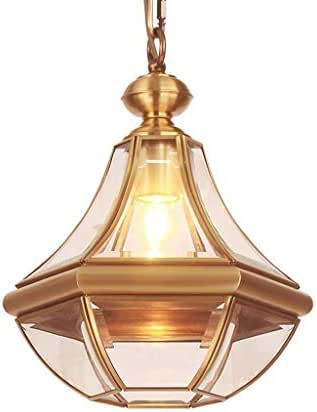 WSXXN Full Copper Chandelier Aisle Off The Light Corridor Balcony Lamp Outdoor Chandelier Single Chandelier All Copper Build, Big Fang Gaogui E27