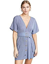 Women's Short Sleeve Plunging Casual Dress