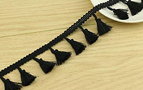 Bedding Clothing 4.5cm Wide Lace Trim Ribbon Trimming for Sewing Crafts Chris.W 10 Yard Beige Cotton Tassel Fringe Trim Curtains and More