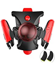 PUBG Trigger for Mobile Phone Game Controller PUBG Controller 4 continuous click frequencies Up to 20 Clicks Per Second Comes and 2pcs Gaming Finger Sets (Red)