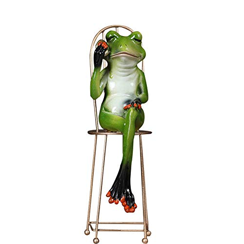 MEMIND Home Living Room Desktop Frog Decoration Creative Study Office Soft Dress Accessories Animal Crafts Gentleman Frog Furnishings,Phone