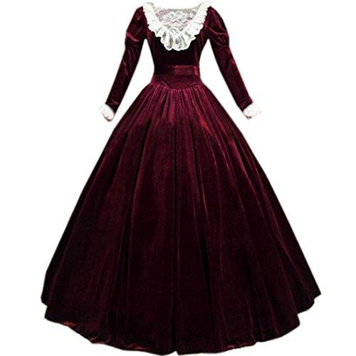 Victorian Red Dress - 6