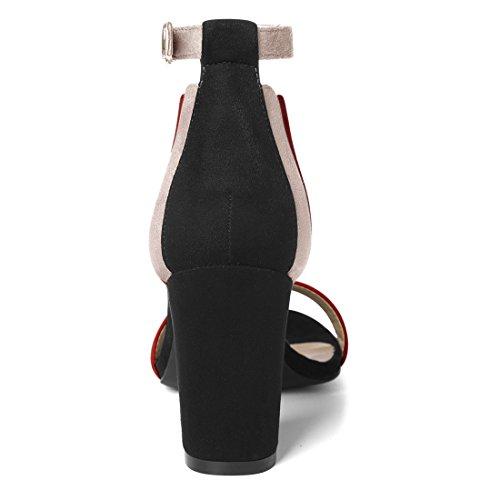 red Alla Tacco K Largo Cinturino Caviglia Donna Con Sandali Allegra Pink qFv60