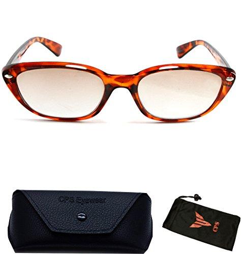 (#CES-1) Cat Eyes Sun Readers Sunglasses Women Unisex Brown Reading Glasses +1.00 1.25 +1.50 +1.75 +2.00 2.25 +2.50 +3.00 3.50 (SELECTION: Tortoise - Readers Sunglasses Discount