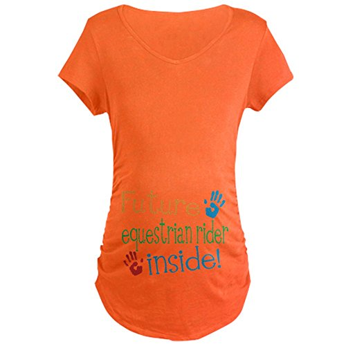 CafePress Equestrian Rider Maternity T-Shirt Cotton Maternity T-Shirt, Side Ruched Scoop Neck
