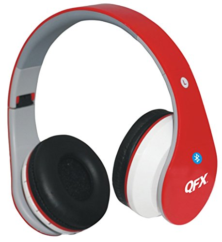 QFX H-251BTRE/RED Folding Bluetooth Stereo Headpho...