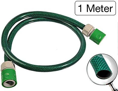 Manguera de jardín conector Set 1/2 pulgadas 1 metro – para conectar la manguera carro con un grifo: Amazon.es: Jardín